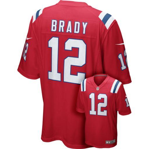 Men's Nike New EnglandPatriots Tom Brady Game NFL Replica Jersey