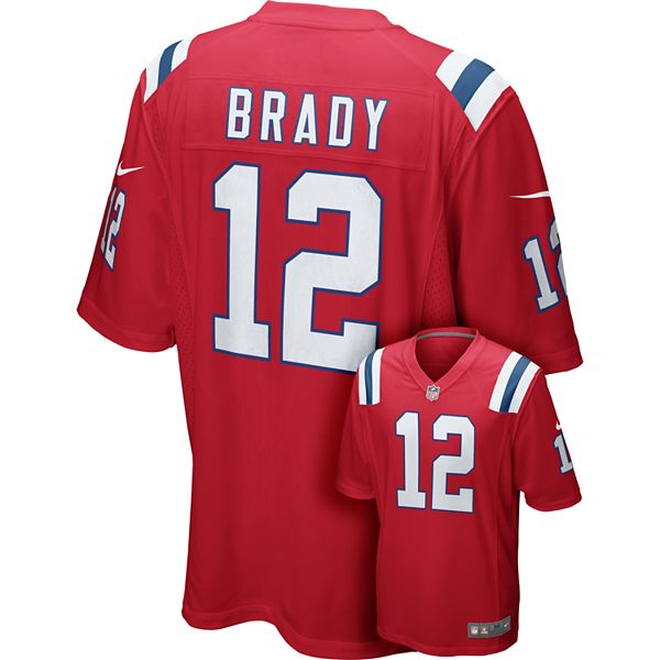 Men's Nike New England Patriots Tom Brady Game NFL Replica Jersey
