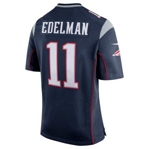 Men's Nike New EnglandPatriots Julian Edelman Game NFL Replica Jersey