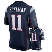 Men's Nike New England Patriots Julian Edelman Game NFL Replica Jersey