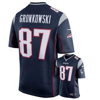 accb5105 Men's Nike New England Patriots Rob Gronkowski Game NFL Replica Jersey