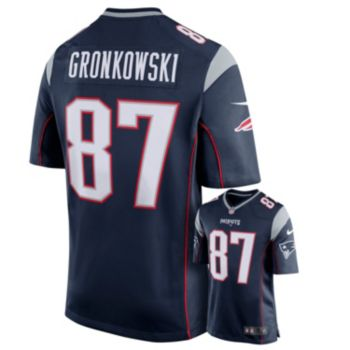 Men's Nike New England Patriots Rob Gronkowski Game NFL Replica Jersey