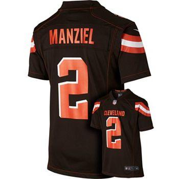 factory price 9566d 9ec55 Men's Nike Cleveland Browns Johnny Manziel Game NFL Replica ...