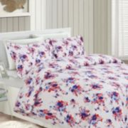 Printed Flannel 3-pc. Luxury Duvet Cover Set