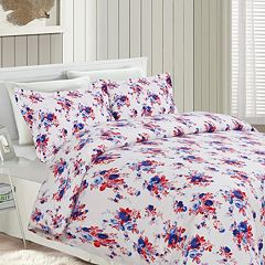 Printed Flannel 3 pc Luxury Duvet Cover Set