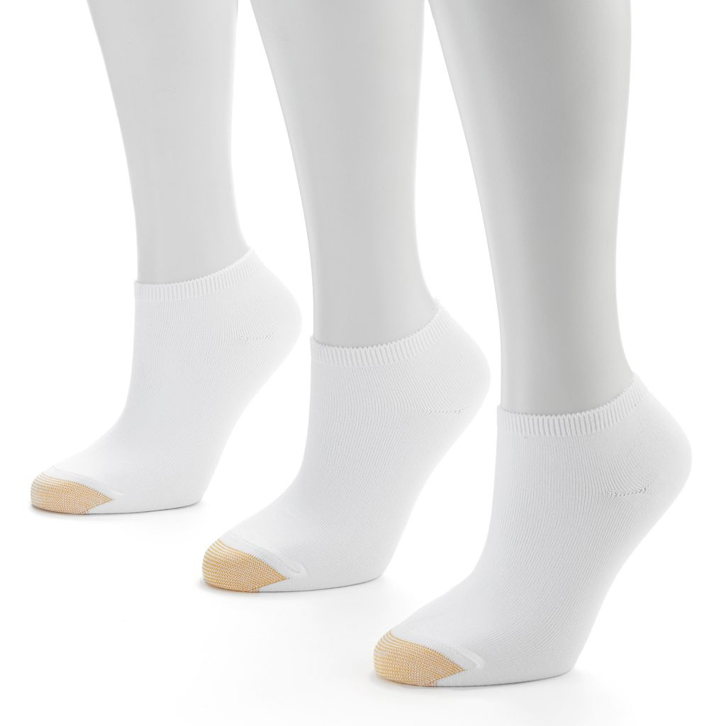 GOLDTOE 3-pk. Ribbed No-Show Socks - Women