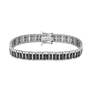 1 Carat T.W. Black Diamond Sterling Silver Bracelet