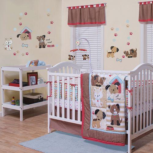 Belle Puppy Play 3 Pc Crib Bedding Set