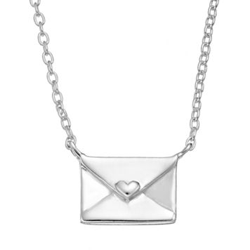 Sterling Silver Envelope Necklace