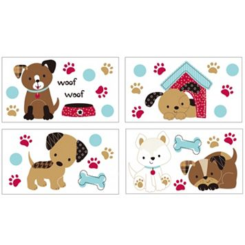 Belle Puppy Play Wall Decals