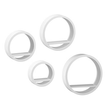 Blackmon 4-piece Circle Wall Shelf Set