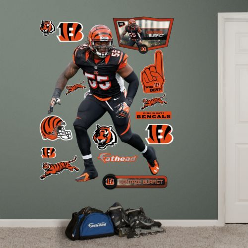 Cincinnati Bengals Vontaze Burfict Hero Pack Wall Decals by Fathead