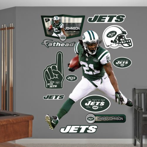 New York Jets Chris Johnson Wall Decals by Fathead