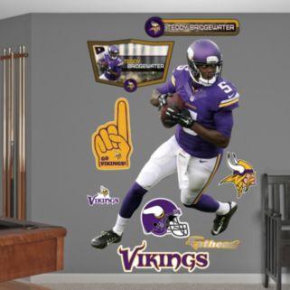 Minnesota Vikings Teddy Bridgewater Wall Decals by Fathead