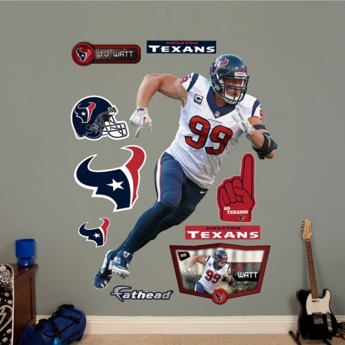 Houston Texans J.J. Watt Defensive End Wall Decals by Fathead