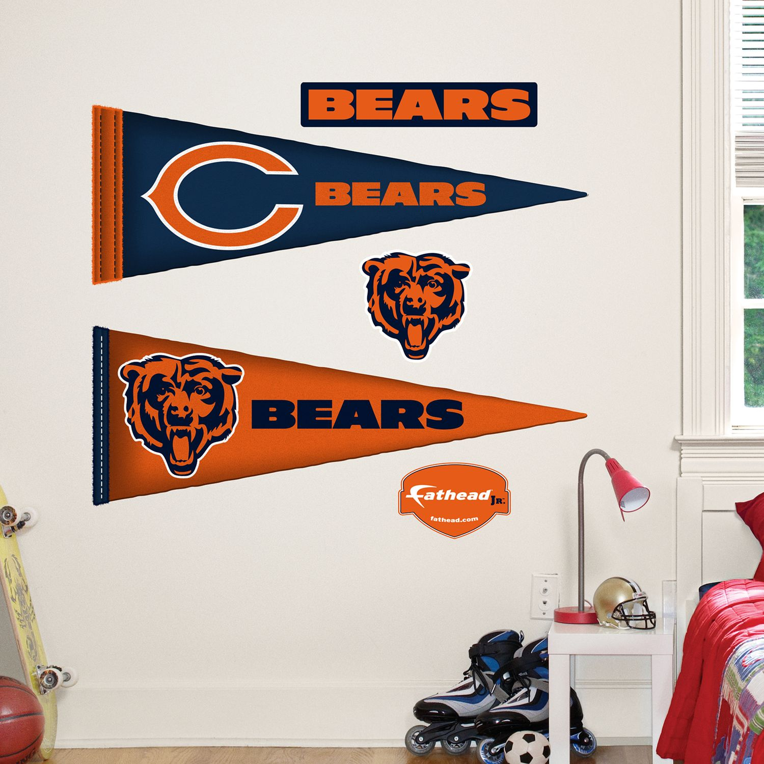 & Chicago Bears Pennant Wall Decals by Fathead Jr.