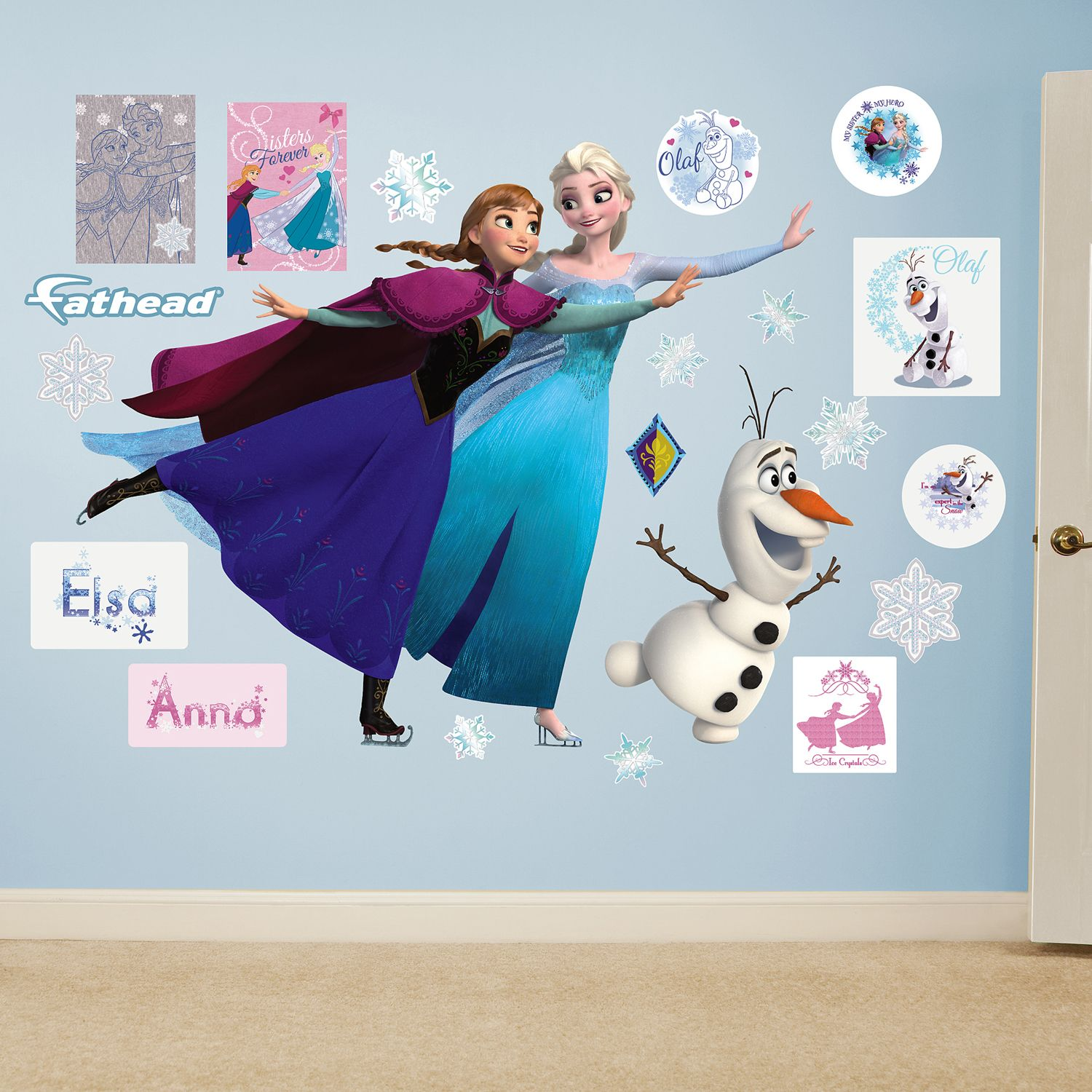 Disneyu0027s Frozen Ice Skating Wall Decals By Fathead