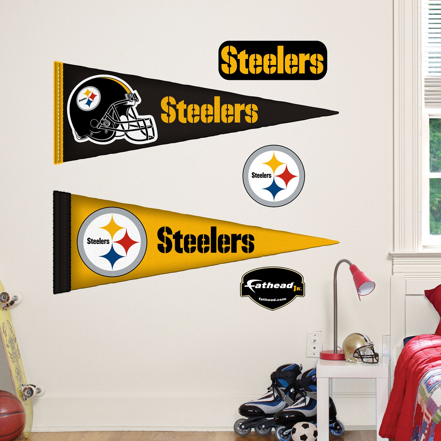 sc 1 st  Kohlu0027s & Pittsburgh Steelers Pennant Wall Decals by Fathead Jr.