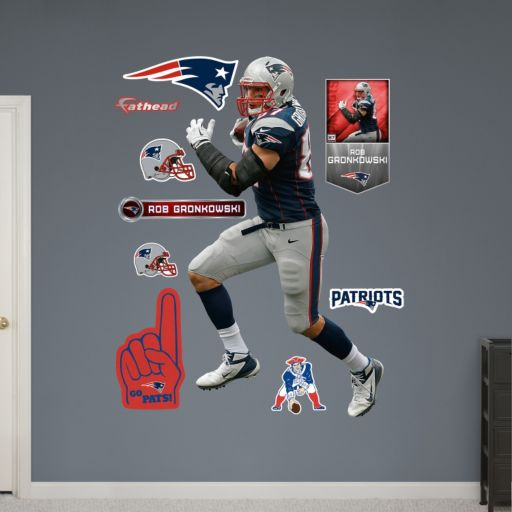 New England Patriots Rob Gronkowski Tight End Wall Decals by Fathead
