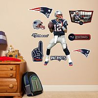 New England Patriots Tom Brady Wall Decals by Fathead Jr.