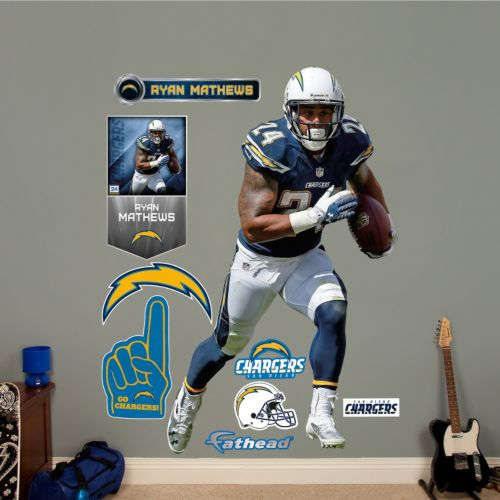 San Diego Chargers Ryan Matthews Wall Decals by Fathead
