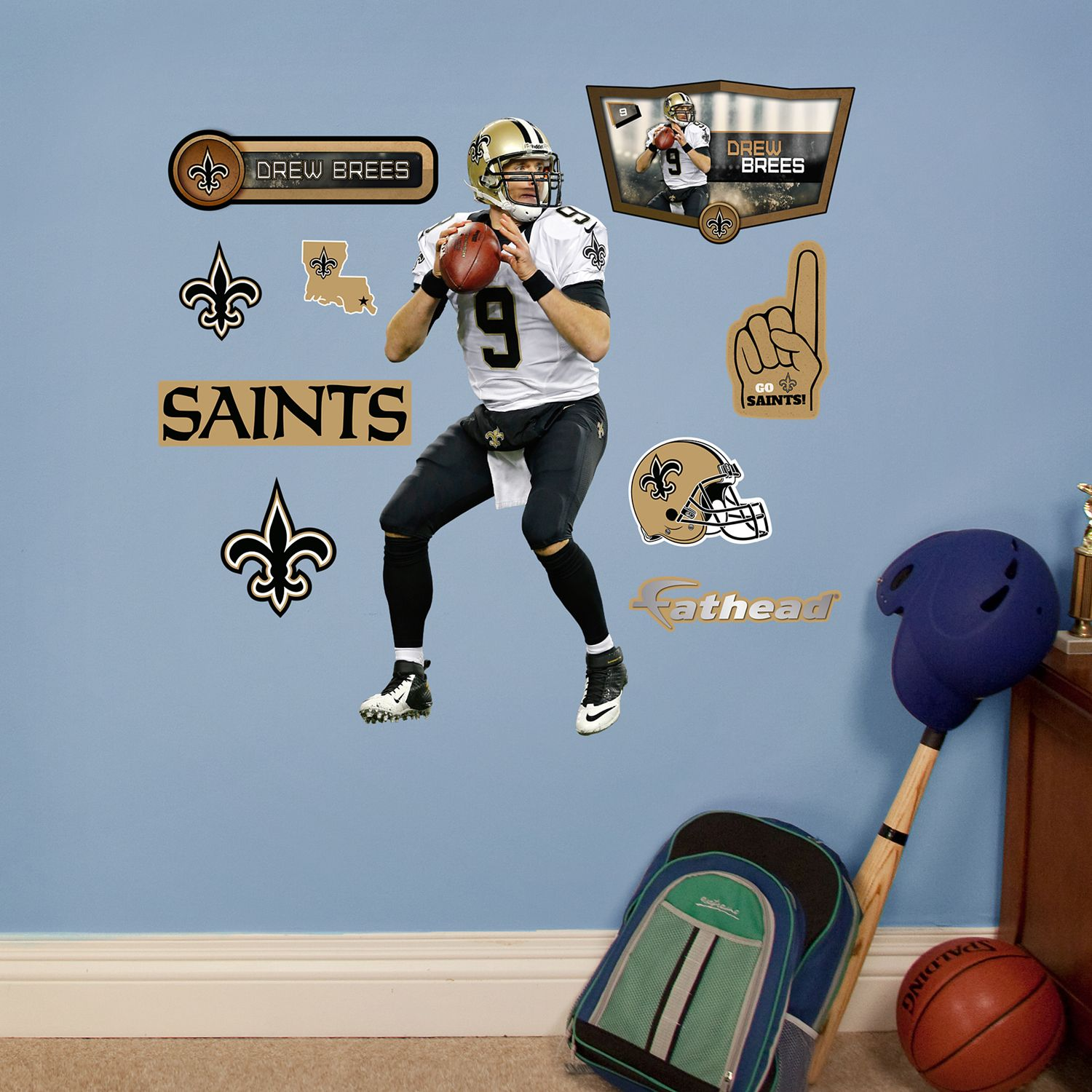 & New Orleans Saints Drew Brees Wall Decals by Fathead Jr.