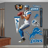 Detroit Lions Matthew Stafford Away Wall Decals by Fathead
