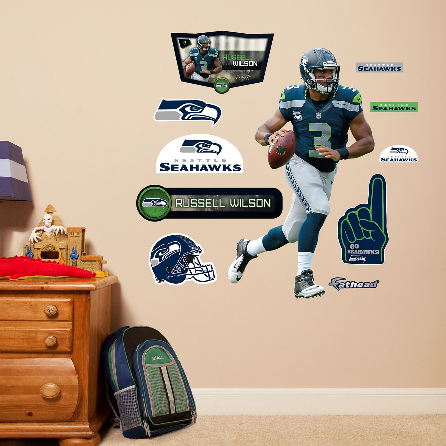 Seattle Seahawks Russell Wilson Wall Decals By Fathead Jr. Part 38