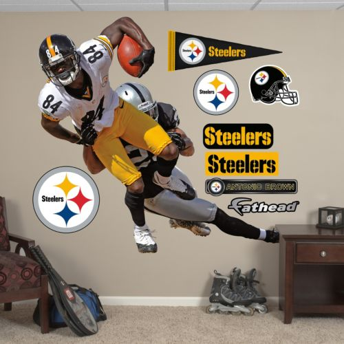 Pittsburgh Steelers Antonio Brown Takes It On Wall Decals by Fathead