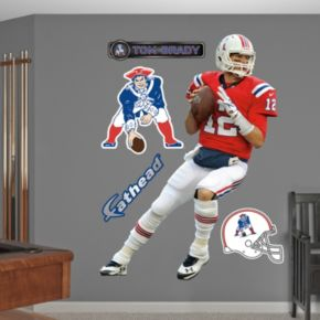 New England Patriots Tom Brady Throwback Wall Decals by Fathead