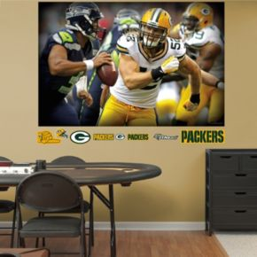 Green Bay Packers Clay Matthews Pursuit Mural Wall Decals by Fathead