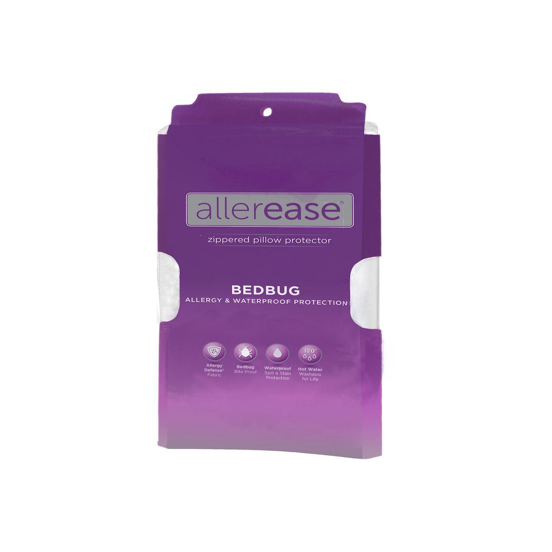 allerease waterproof bedbug u0026 allergy protection pillow protector standard queen