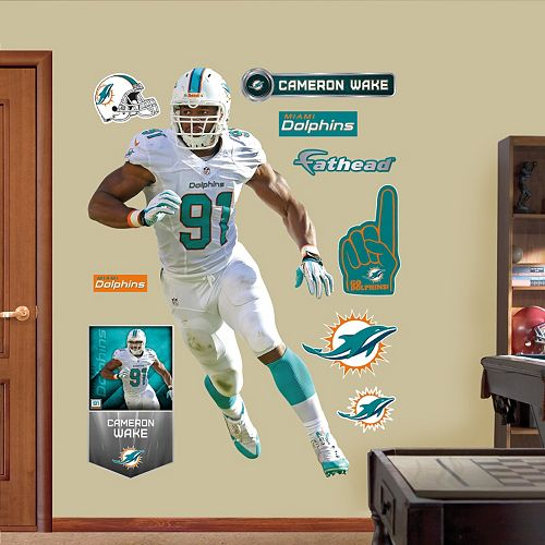 Miami Dolphins Cameron Wake Defensive End Wall Decals by Fathead