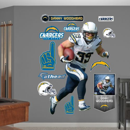 San Diego Chargers Danny Woodhead Wall Decals by Fathead