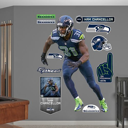 baa511e8 Seattle Seahawks Kam Chancellor Wall Decals by Fathead
