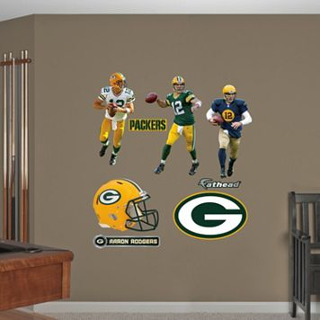 Green Bay Packers Aaron Rogers Hero Pack Wall Decals by Fathead