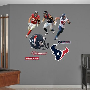 Houston Texans J.J. Watt Hero Pack Wall Decals by Fathead