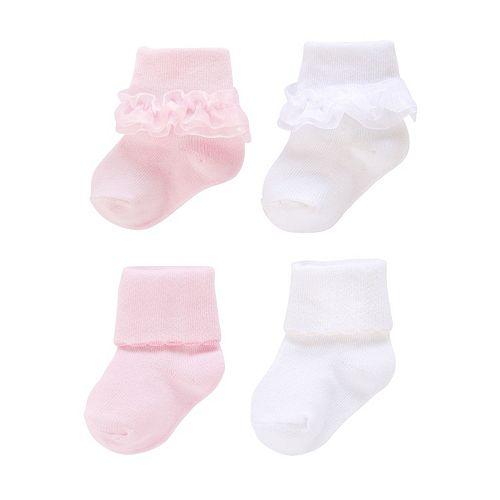 Baby/Toddler Jumping Beans® 4-pk. Ruffle Roll-Cuff Socks
