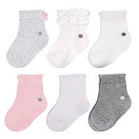 Baby Girl / Toddler Girl Jumping Beans® 6 pkScalloped Crew Socks