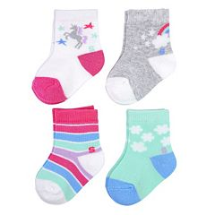 Baby Girl / Toddler Girl Jumping Beans® 4-pk. Low-Cut Socks