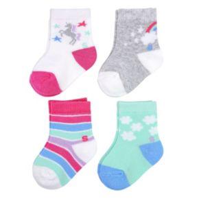 Baby Girl / Toddler Girl Jumping Beans® 4-pk. Low-Cut Socks