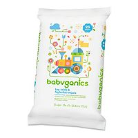 Babyganics On-the-Go 25 pkFragrance-Free Toy, Table & High Chair Wipes