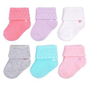 Baby Girl / Toddler Girl Jumping Beans® 6-pk. Roll-Cuff Socks
