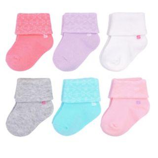 Baby Girl / Toddler Girl Jumping Beans® 6-pk. Printed Cuff Socks