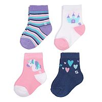 Baby Girl / Toddler Girl Jumping Beans® 4 pkPolka-Dot Crew Socks