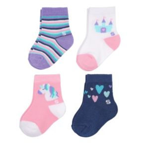 Baby Girl / Toddler Girl Jumping Beans® 4-pk. Polka-Dot Crew Socks