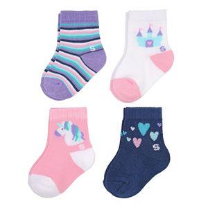 Baby Girl / Toddler Girl Jumping Beans® 4-pk. Crew Socks