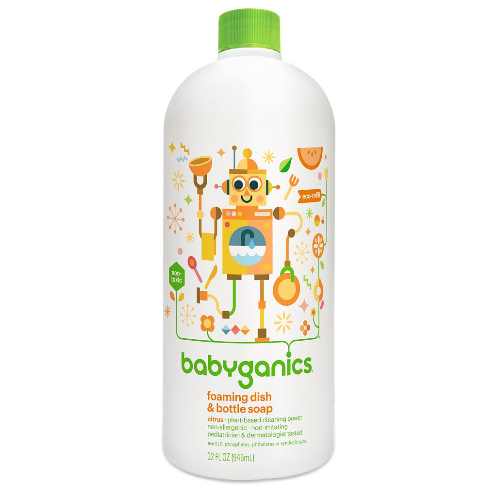 Babyganics 33.8-oz. Foaming Dish & Bottle Soap Refill