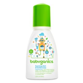 Babyganics 3-oz. Fragrance-Free Travel Foaming Dish & Bottle Soap