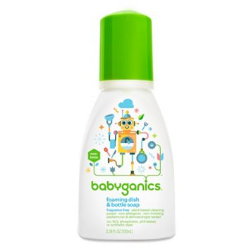 Babyganics 3-oz. Fragrance-Free Travel Foaming Dish & Bottle Soap